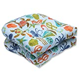 Pillow Perfect Outdoor Seapoint Summer Wicker Seat Cushion, Blue, Set of 2 Review