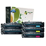 Green Toner Supply (TM) New Compatible [HP CF410A HP410A] 2 Black, 1 Cyan, 1 Yellow, 1 Magenta LaserJet Toner Cartridge HP Color LaserJet Pro M452, M377, M477
