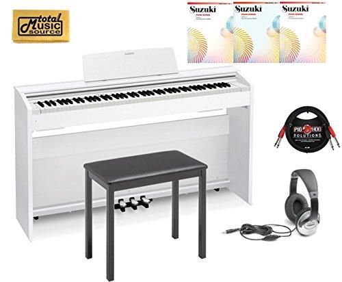 Casio PX-870 White Privia Digital Home Piano, White Student Bundle 2