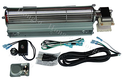 - Hongso BKT GA3650T GA3650TB GA3700T GA3700TA Replacement Fireplace Blower Fan KIT for Desa, FMI, Vanguard, Vexar, Comfort Flame Glow, Rotom