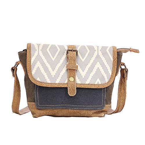 Myra Bag Loop Upcycled Canvas & Cowhide Crossbody Bag S-1519
