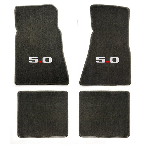 Lloyd Mats Grey 5.0 Mustang(1979-1993) Heavy Plush Floor Mats (Gt Lloyd Mats Ford)
