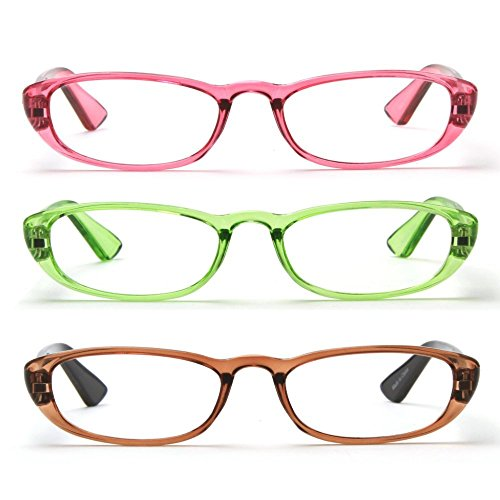 (MIDI Readers for Women (M-102) Designed in Japan/Fine Spring Hinge for Comfort fit/Available in 3 Chic Colors (Light Green,)