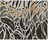 KESS InHouse Viviana Gonzalez ''Africa - Abstract Pattern II'' Gray Green Fleece Baby Blanket, 40'' x 30''