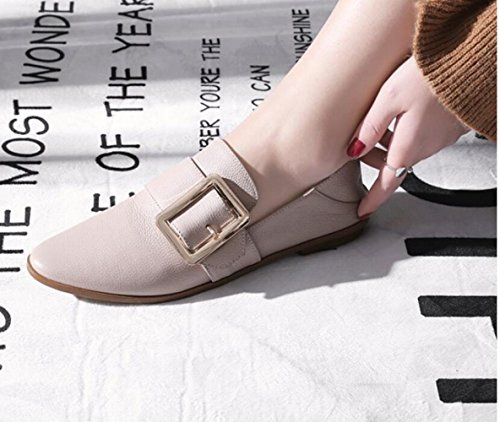 Square Avec Wild Femme Et Shoes Buckle Casual Flat Zfnyy Round Automne Loose Bas Printemps Chaussures 1xqdHw8n
