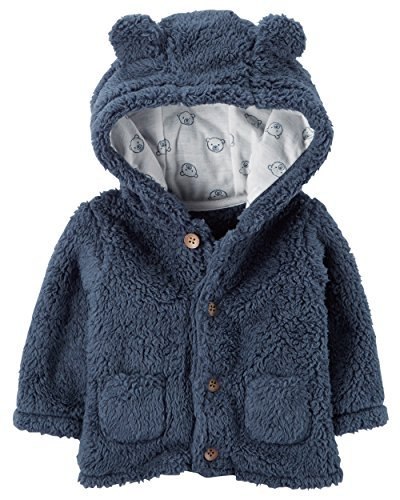 Carter's Baby Boys' 3M-24M Hooded Sherpa Jacket 3 Months by Carter's