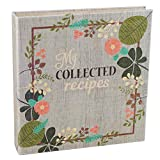 Meadowsweet Kitchens CYOCR/VF Create Your Own (Fabric Covered) Collected Recipes Cookbook, Vintage Flowers Design, Multicolored
