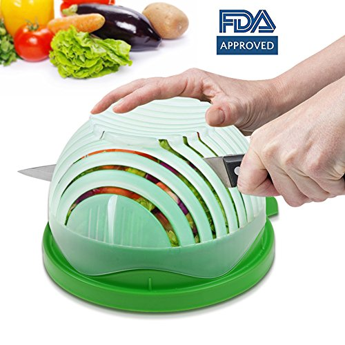 (Annstory Salad Cutter Bowl, Vegetable Chopper Upgraded Salad Maker Fast Fresh Fruit Salad Slicer, FDA Approved for Kitchen)