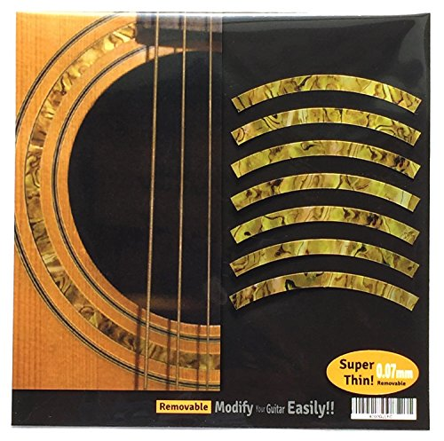 Inlay Sticker Decal Acoustic Guitar Purflinng Sound hole In Abalone Theme - Rosette Strip -