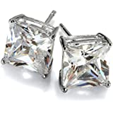 Yo Yo Honey Singh Inspired Big Square Silver Stud Earrings For Men Enhanced W...