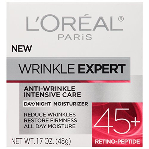 51hQnEuD7BL - L'Oreal Paris Skincare Wrinkle Expert 45+ Anti-Aging Face Moisturizer with Retino-Peptide, Non-Greasy, Suitable for Sensitive Skin, 1.7 fl. oz.