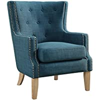 Dorel Living Otto Accent Chair, Blue