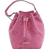 Love Moschino embossed buket bag pink