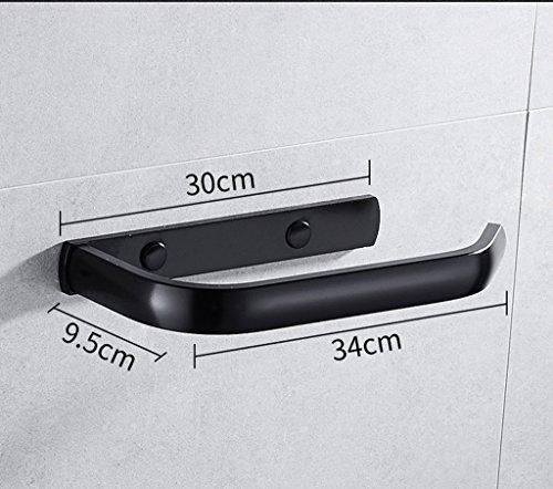 GuoEY Toallero, perforación Libre de antigüedades de Estilo Americano de Toallas de baño de Materiales de Aluminio Negro de 34cm toallero: Amazon.es: Hogar