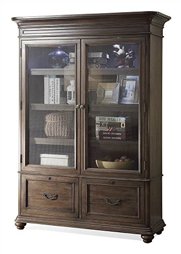 Riverside Furniture 597346 Traditional Bookcase in Oak Finish Brown