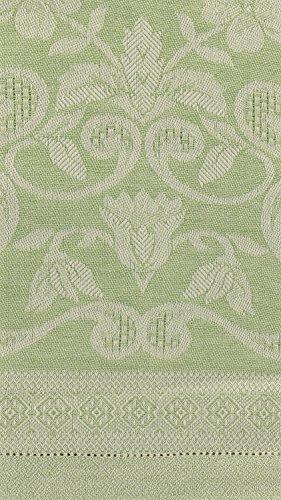 Tessitura Pardi Damasco Green Misto Linen Small Italian Hand Towel ()