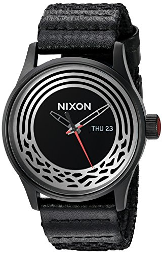 Nixon Men's 'Star Wars Kylo' Quartz Stainless Steel and Cloth Casual Watch, Color:Black (Model: A1067SW2444-00)