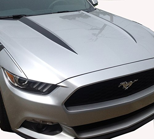 2015 Mustang Hood Spears Vinyl Graphic Decal Mustang Accessories Matte Black