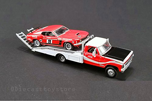 GREENLIGHT 1:64 FORD RAMP TRUCK WITH FORD MUSTANG - #9 ALLAN