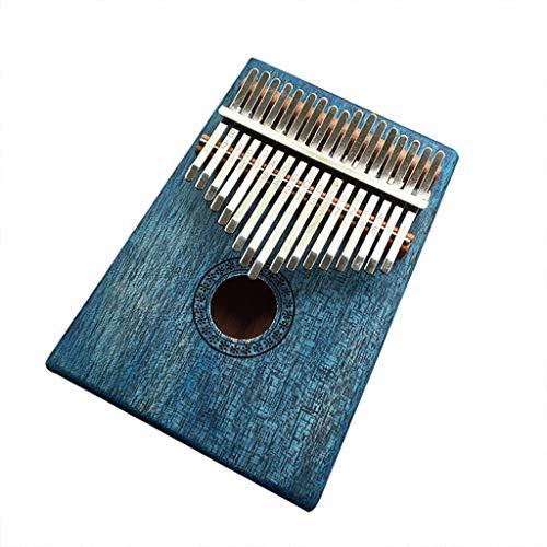 Kalimba 17 Keys Portable Thumb Piano Mbira Sanza Mahogany Body Ore Metal Tines B,