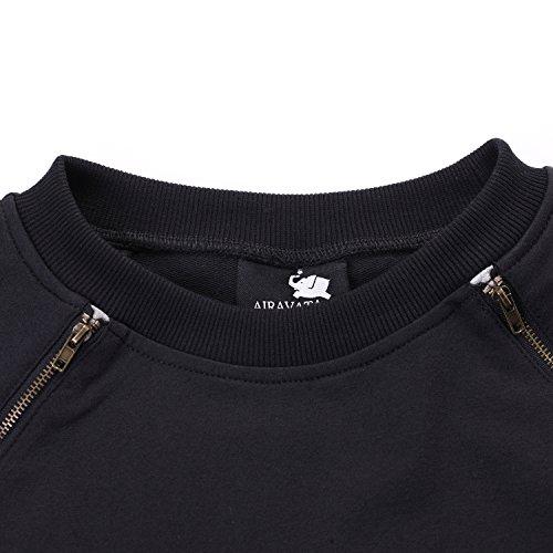 Noir4 Decore Airavata Manches Hoodie Courtes shirt T Hipster Sur Hip Hop Homme Cote UMVSqzp
