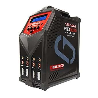 venom pro quad 400 watt 100w x 4 7 amp 4 port ac dc multi chemistry lipo lihv. Black Bedroom Furniture Sets. Home Design Ideas