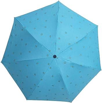 Comeyang Mini sombrilla, Paraguas de Viaje portátil, protección UV, Actividades al Aire Libre,Sombrilla Ultraligera Triple Paraguas Paraguas colour4 95cm: Amazon.es: Hogar