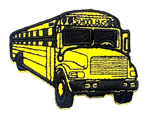 - Yellow Bus Car School Bus Transportation Back to School Vintage Car Classic Cartoon Children Kid Patch Clothes Bag T-Shirt Jeans Biker Badge Applique Iron on/Sew On Patch