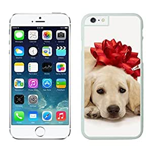 Customization Christmas Dog Of Decorate Flower White Phone Case For Iphone 6 4.7 Inch by lolosakes