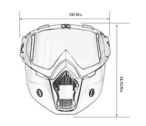 de Motocicleta Arena de Gafas Material y a Viento Ciclismo PC explosiones la la Cascos de Prueba C f0RwqO