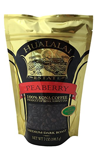 Hualalai Estate - 100% Pure PREMIUM Kona Coffee - Medium-Dark Roast 7oz (WHOLE BEAN)