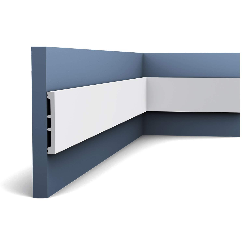 Marco para puerta Orac Decor DX163-2300 AXXENT Z/ócalo Canal de cable multifuncional Perfil de estuco 2,30 m