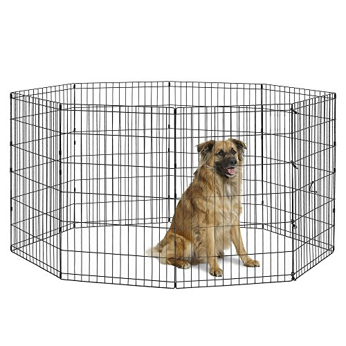 New World Pet Products B554-36 Foldable Exercise Pet Playpen, Black, Intermediate/24 x 36
