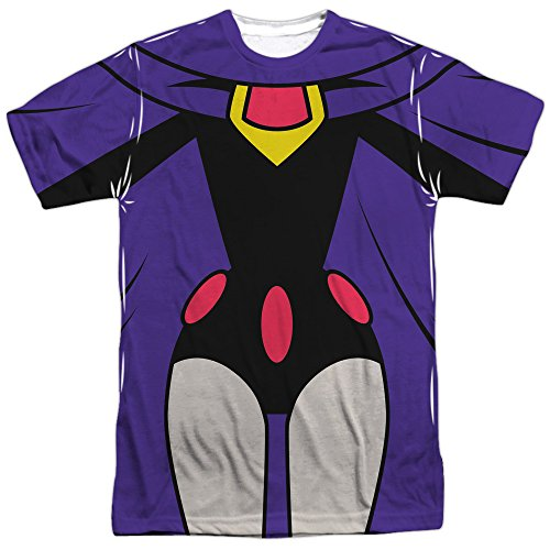 Raven Costume -- Teen Titans All-Over Front/Back T-Shirt, (Dc Comics Raven Costume)