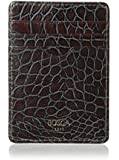 Bosca Men's Croco - Deluxe Front Pocket Wallet Gray/Brown Cell Phone Wallet