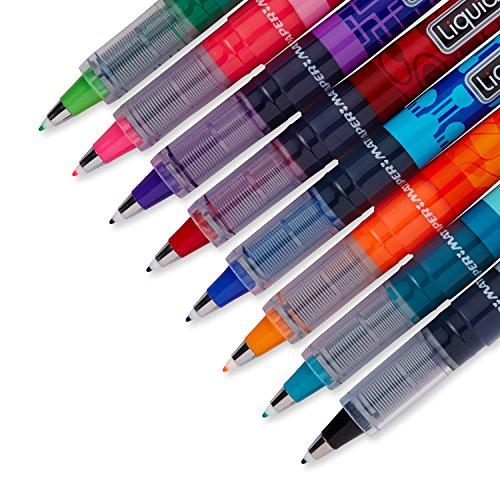 Paper Mate Liquid Flair Medium Tip Felt Porous Pens, 8 Colored ...