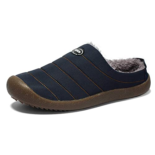 Daytwork Impermeable Antideslizante Pantuflas Hombre - Otoño Invierno Zapatillas Casa Cálidas Zapatos Suave Algodón Slippers: Amazon.es: Zapatos y ...