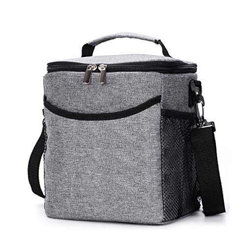 VENO Insulated Lunch Box Lunch Bag for Adults Men Women, 2.3 Gallon (12-Cans) Soft Cooler Tote, Waterproof Thermal Bento Bag With Shoulder Strap Pockets for Work/School/Picnic