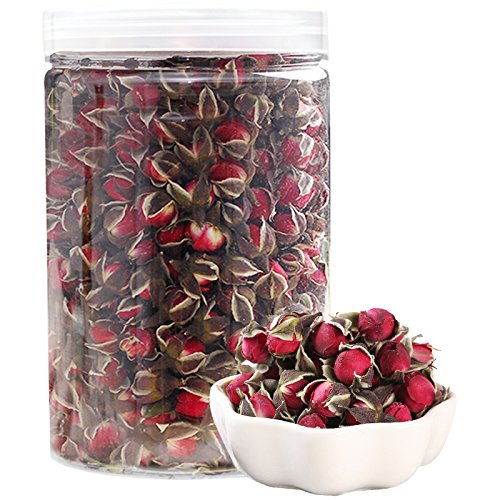 Snow Mountain Rose 100% Natural Red Rose Tea Dried Flowers Wholesale Loose Leaf Tea Chinese Herbal Teas 金边玫瑰 (Dried Flower Buds)