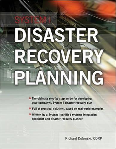 amazoncom system i disaster recovery planning 9781583470671 richard dolewski books