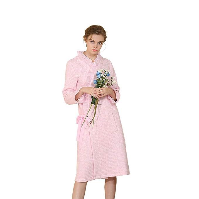 Dwevkeful Larga de Bata Gruesa Albornoz Pijamas Acolchados Damas s Kimono Mujer Batas Invierno Algodon Mangas Largas Comodo y Agradable: Amazon.es: Ropa y ...