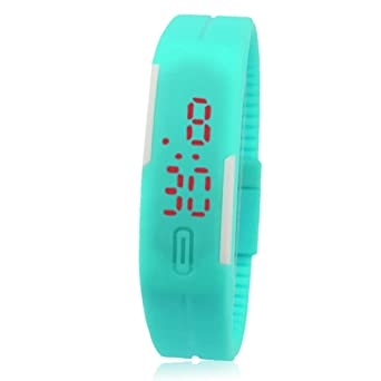 FEITONG Nuevo Delgado chica de hombres Deportes Silicona LED digital Reloj de pulsera deportivo: FEITONG: Amazon.es: Relojes