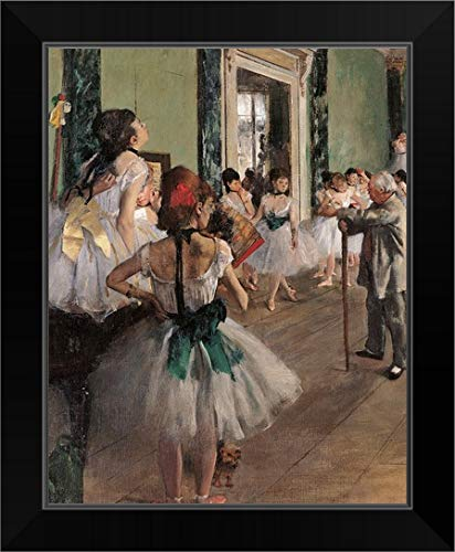 CANVAS ON DEMAND Dance Class, by Edgar Degas, 1873. Musee D'Orsay, Paris, France Black Framed Art Print, ()