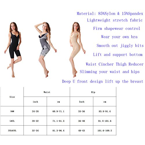Own Cosce Control Bra Slimmer wear Miss Stomach Open Firm Briefer Nude Busto Body Shapewear Moly HfXq7