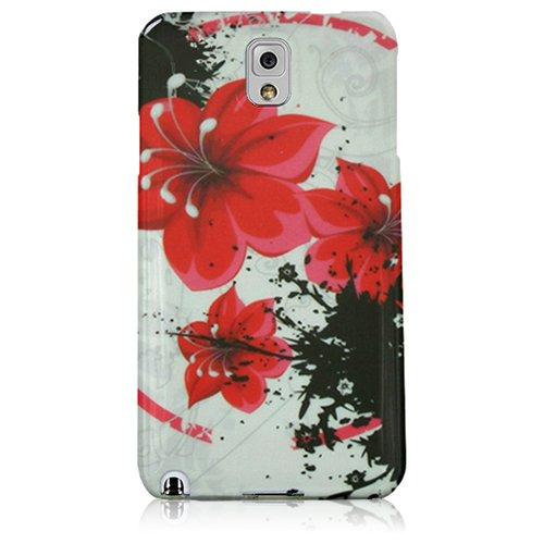 Xtra-Funky Exclusivo Caja de la flor azul suave silicona Floral Para Samsung Galaxy Note 4 - Diseño B2 B18