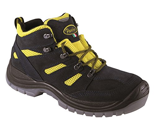 Panther 2728202la _ 47 Woody Yellow Mid S1P Arbeitsschuhe, Größe 47, Blue/Yellow