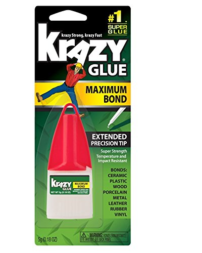 (Instant Krazy Glue Adhesive Plastic, Metal, Rubber Carded 5 G)
