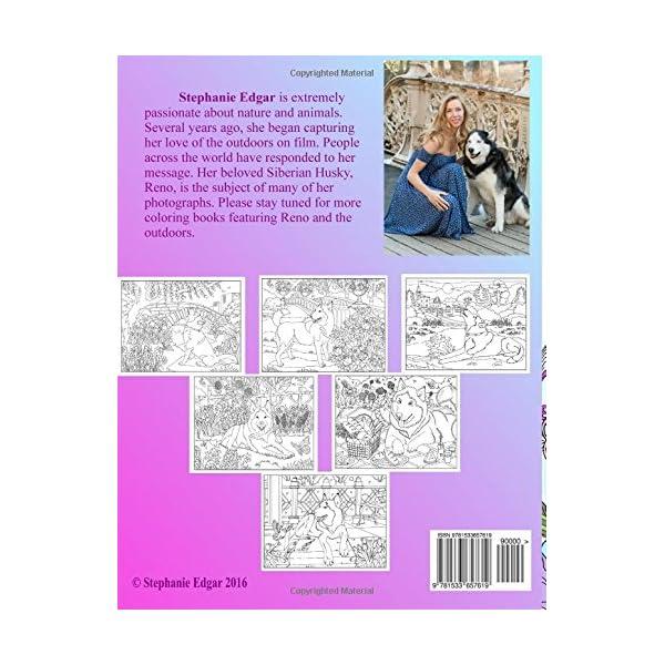 A Delightful Siberian Husky: Adult Coloring Book (Siberian Husky Collection) (Volume 1) 1