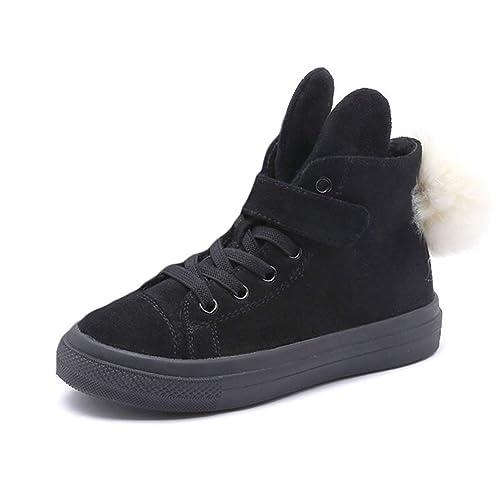 Zapatillas Deportivas Altas de Invierno para niños con Velcro Chica para niños Zapatillas de Correr Negras y cálidas con Tobillo: Amazon.es: Zapatos y ...