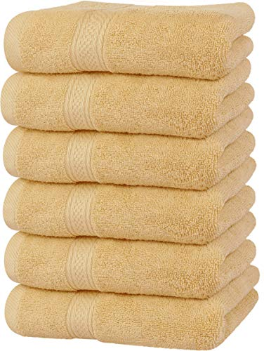 Utopia Towels Premium Beige Hand Towels – 100% Combed Ring Spun Cotton, Ultra Soft and Highly Absorbent, 600 GSM Extra…